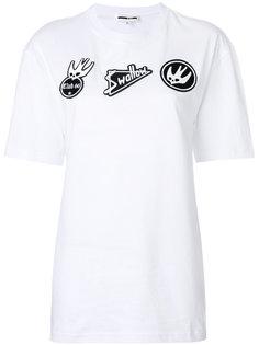 футболка с заплатками Swallow McQ Alexander McQueen