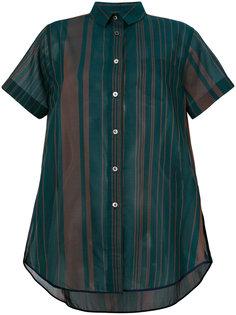 полосатая прозрачная рубашка Sacai