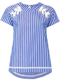 полосатая рубашка с люверсами Sacai