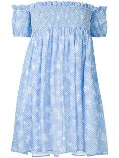 платье с открытыми плечами Miu Miu