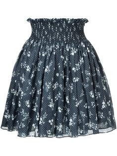 юбка с цветочным принтом Miu Miu
