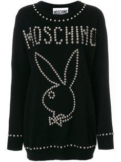 свитер Playboy  с заклепками Moschino
