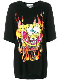 футболка с принтом Spongebob Moschino