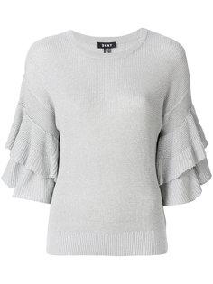 свитер с расклешенными рукавами DKNY