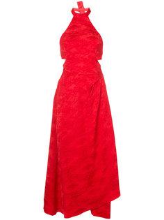 жаккардовое платье халтер  Rosie Assoulin