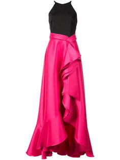 каскадное платье  Badgley Mischka