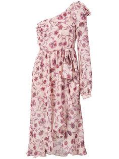 платье на одно плечо с принтом роз For Love And Lemons