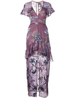 платье с V-образным вырезом  For Love And Lemons