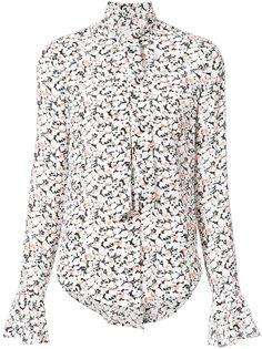 блузка с принтом и шарфом  Veronica Beard