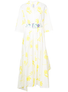 поплиновое платье с поясом Tulips Rosie Assoulin