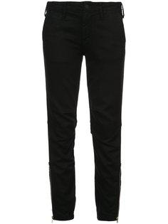 укороченные джинсы с молнией  Mother