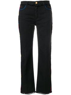 джинсы с бахромой и полосками по бокам Etro