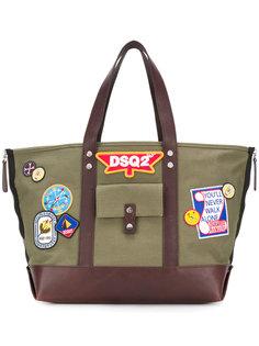 сумка-тоут с нашивками Dsquared2