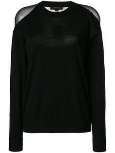свитер с прозрачными панелями Alexander Wang
