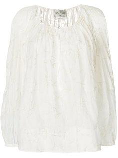 полупрозрачная блузка с вышивкой Forte Forte