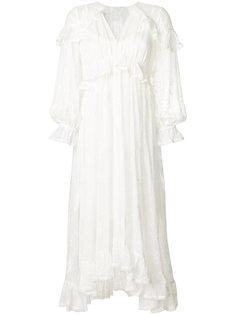крестьянское платье с вышивкой Zimmermann