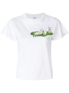 футболка с вышивкой барашков Carven