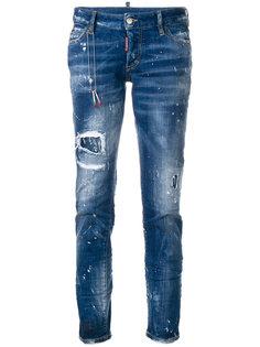 джинсы с потертой отделкой Jennifer  Dsquared2