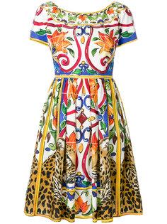 Majolica leopard print dress Dolce & Gabbana