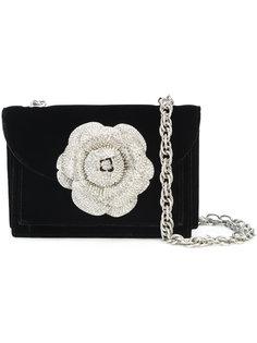 сумка на плечо с цветочной отделкой  Oscar de la Renta