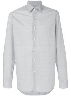 поплиновая рубашка с мелким узором Prada