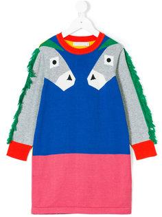 платье-свитер с осликом Stella Mccartney Kids