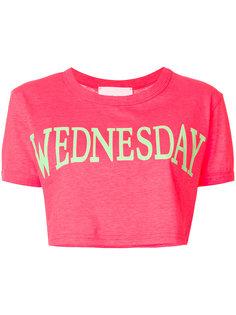 укороченная футболка Wednesday  Alberta Ferretti