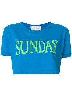 укороченная футболка Sunday  Alberta Ferretti