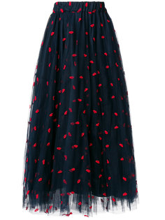 тюлевая юбка с вышивкой губ P.A.R.O.S.H.