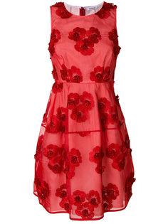 мини-платье с цветочной вышивкой P.A.R.O.S.H.