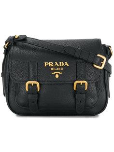 сумка через плечо с откидным клапаном с пряжками Prada