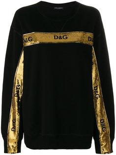 толстовка с пайетками Dolce & Gabbana