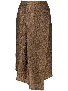асимметричная юбка с цветочным принтом Christian Wijnants