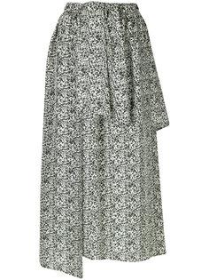 многослойная асимметричная юбка Christian Wijnants