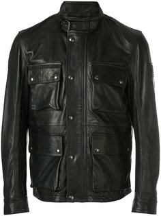 байкерская куртка на молнии Belstaff