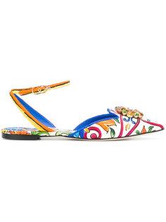 балетки с принтом Bellucci Mejolica Dolce & Gabbana