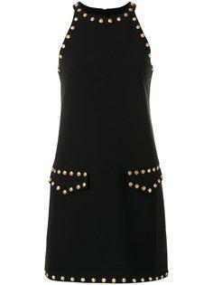 мини-платье с заклепками Moschino