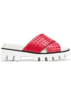 шлепанцы с перекрещивающимися ремешками Red Valentino
