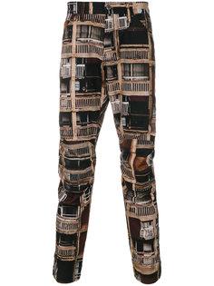 брюки с фото-принтом G-Star