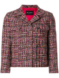 твидовый приталенный пиджак Etro