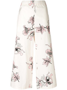 floral cropped trousers  Vivetta