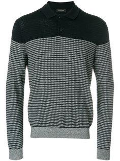 свитер-поло с длинными рукавами в полоску Z Zegna