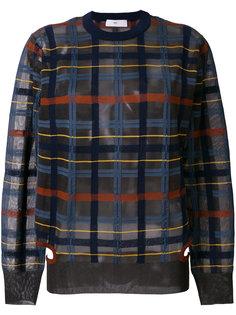 прозрачный свитер с узором в клетку Toga Pulla