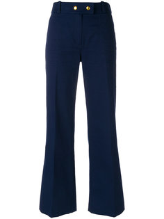 укороченные расклешенные брюки Tory Burch