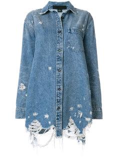 джинсовая куртка свободного кроя с эффектом потертости  Alexander Wang