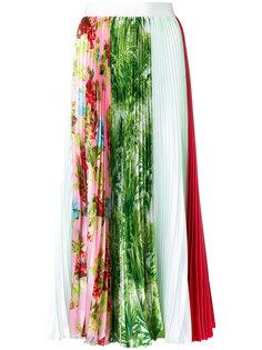 плиссированная юбка с комбинированным принтом MSGM