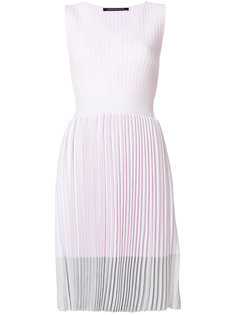 плиссированное платье с V-образным вырезом Antonino Valenti