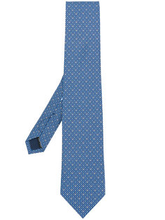 галстук с принтом double Gancio  Salvatore Ferragamo
