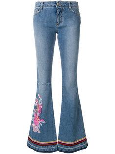 расклешенные джинсы с вышивкой Ermanno Scervino