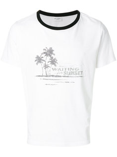 футболка с линялым эффектом Saint Laurent